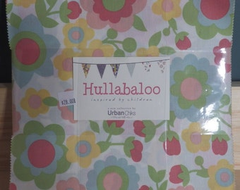 "Hullabaloo by Urban Chicks, 42 10"" X 10"" Layer Cake, Precut Quilting Fabric"
