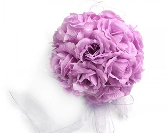 Lavender Silk Rose Kissing Balls Wedding Flower Decorations....Free Shipping in US!