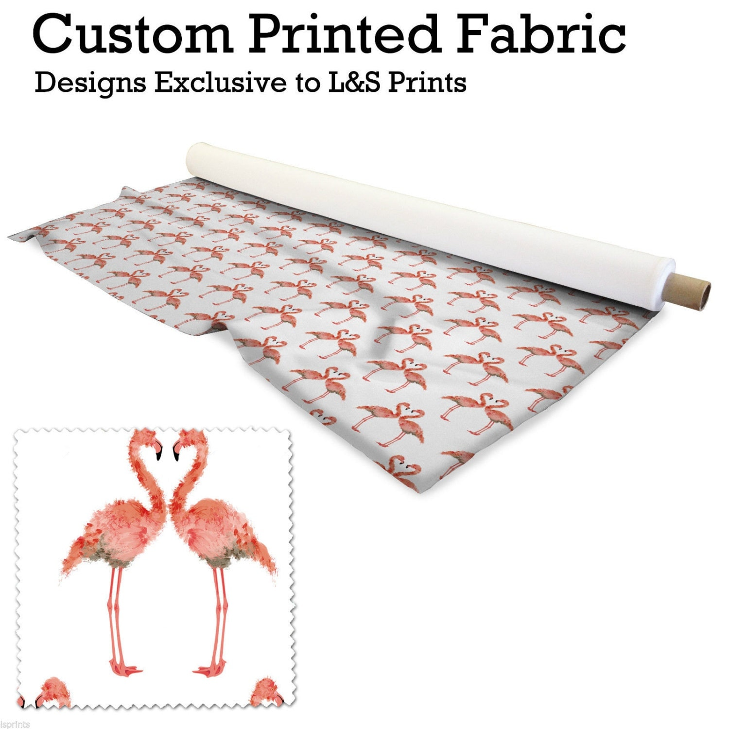 flamingo bird fabric 2 way stretch lycra spandex satin chiffon jersey voile. Black Bedroom Furniture Sets. Home Design Ideas