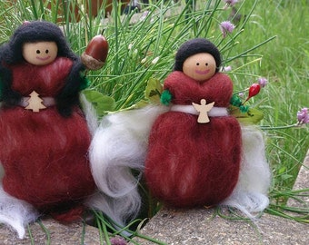 Tree Faeries - wool felt fairy