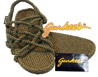 Gurkee's Rope Sandals Neptune Olive