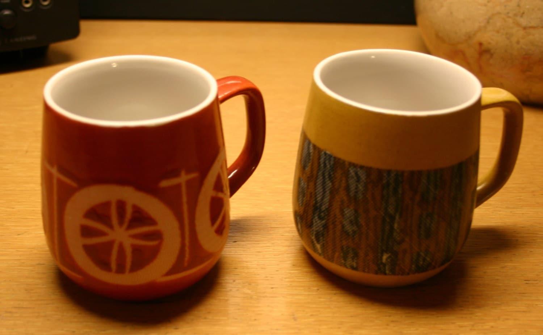 Two Eames Era Danish Modern Coffee Tea Cups By