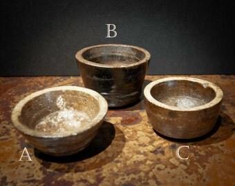 Set of Three Antique Stone Bowls