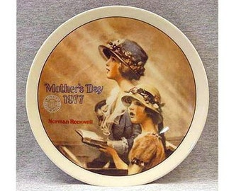 Norman Rockwell 1977 Mother's Day Porcelain Collector Plate 1st Limited Edition ~ FAITH