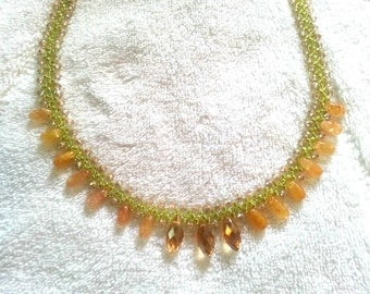 Gemstone Drops Necklace