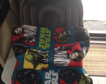 Classic Star Wars baby blanket - pram, stroller, car seat.