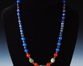 nb 24 - Bead Necklace - Handcrafted Jewelry -Beaded Jewelry  - Artisan Jewelry