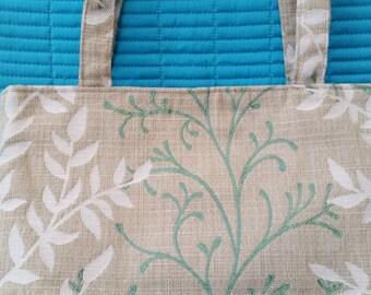 L009.  Beige fabric handbag