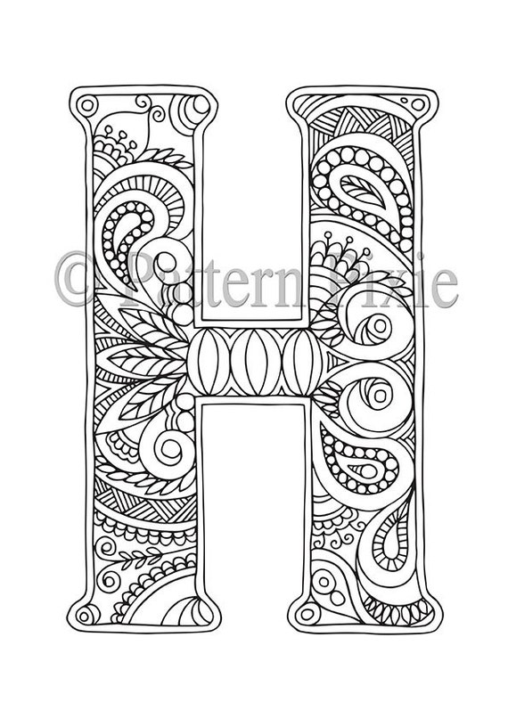 h coloring pages - photo#32