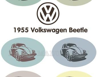 Volkswagen Beetle Clip Art- high resolution