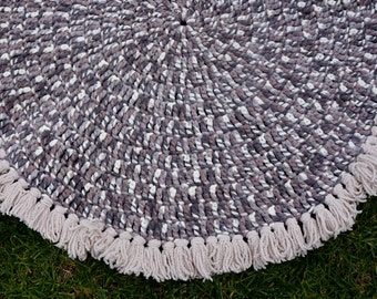 Thick floor mat. crocheted rug. Home decor