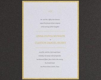 A Simple Monogram Wedding Invitation