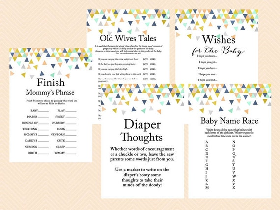 Modern Baby Shower Activities 8 Modern Baby Shower Games And