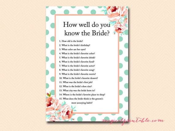 How Well Do You Know The Bride: How Well Do You Know The Bride Who Knows Bride Best Mint