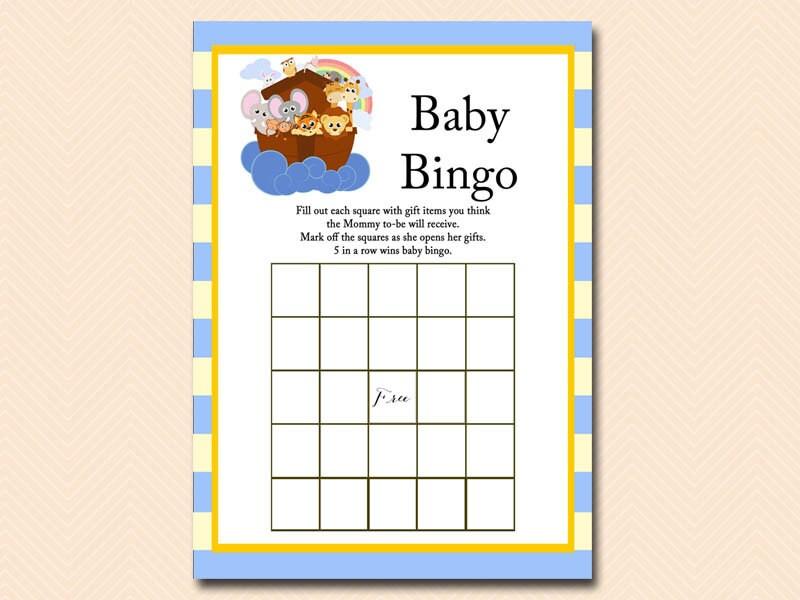 Baby Gift Bingo : Baby bingo shower gift item noah s ark