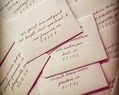 Custom Listing for Alexis- Envelope Addressing Calligraphy