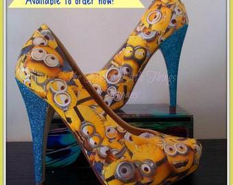 despicable me shoes on etsy a global handmade and vintage