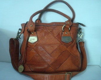 Vintage patchwork leather bag ELLE