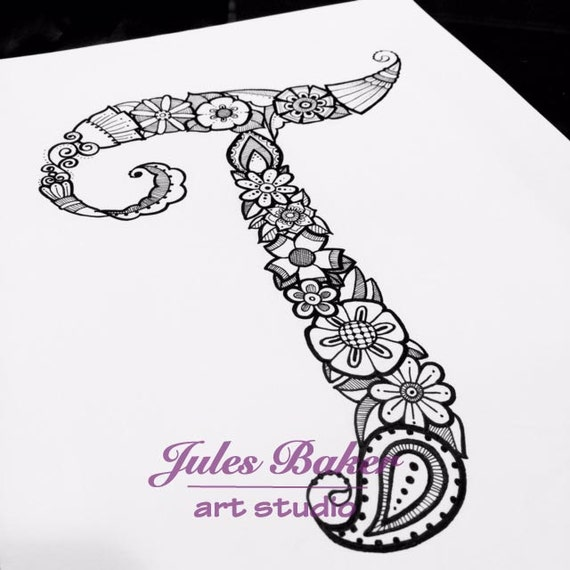 Digital Coloring Page Letter T From Letter