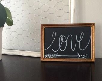Framed chalkboard sign 5x7