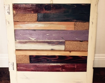 Wall decor created from salvaged wood