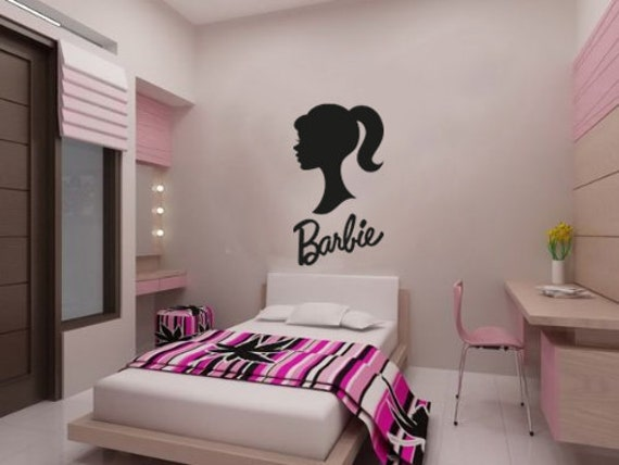 New barbie wall decal wall stickers large 105 cm by for Barbie wall mural