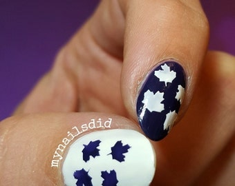 Falling Maple Leaves Stencils Nail Vinyls