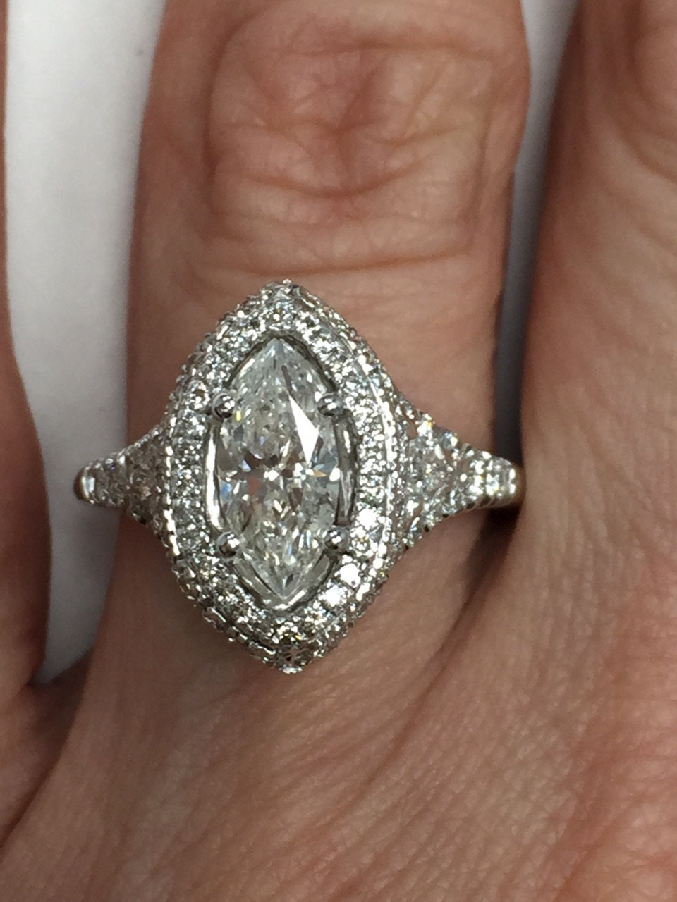 marquise diamond engagement ring halo diamond engagement. Black Bedroom Furniture Sets. Home Design Ideas