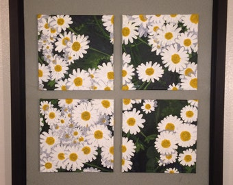 California Wildflowers, original 4 panel oil painting