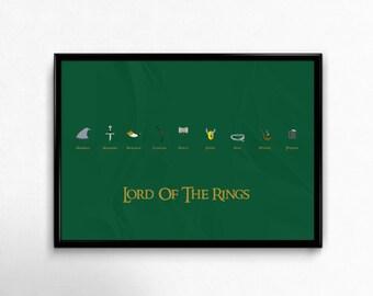 Lord of the Rings Custom Minimal Movie Poster