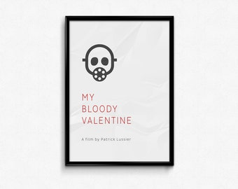 My Bloody Valentine - Custom Minimal Modern Art Movie Poster Print Abstract