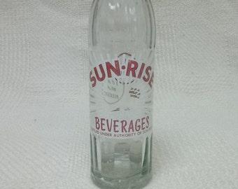 Vintage Sunrise Beverages 10 oz Glass Bottle