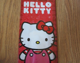 16 Hello Kitty Red Treat Bag WIth Red Ties Cello Bags Birthday Baby Shower Wedding Gift Party Supplies