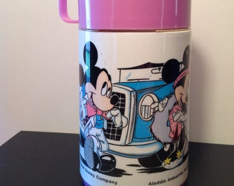 Mickey Mouse thermos and lunch box