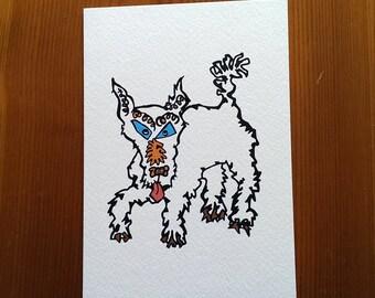 Sasha the dog greeting card