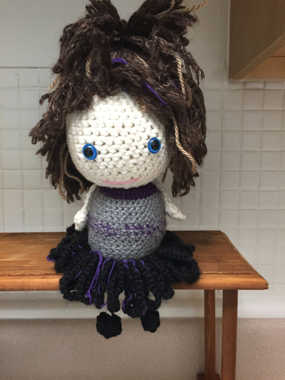 Amigurumi Doll Skirt : Crocheted Amigurumi Doll by TheHookerandtheOwl on Etsy