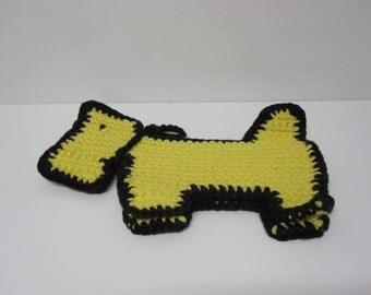 Crochet Scotty Dog Pot Holder