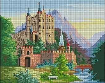 "Cross-stitch pattern ""Castle Hohenschwangau"""