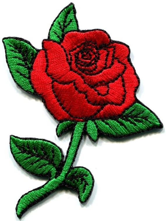 Rose tattoo love s retro applique iron on patch by