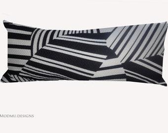 Black & White Geometric Scatter/ Bolster Cushion
