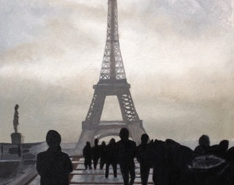 Eiffel Tower - original oil painting 16x12