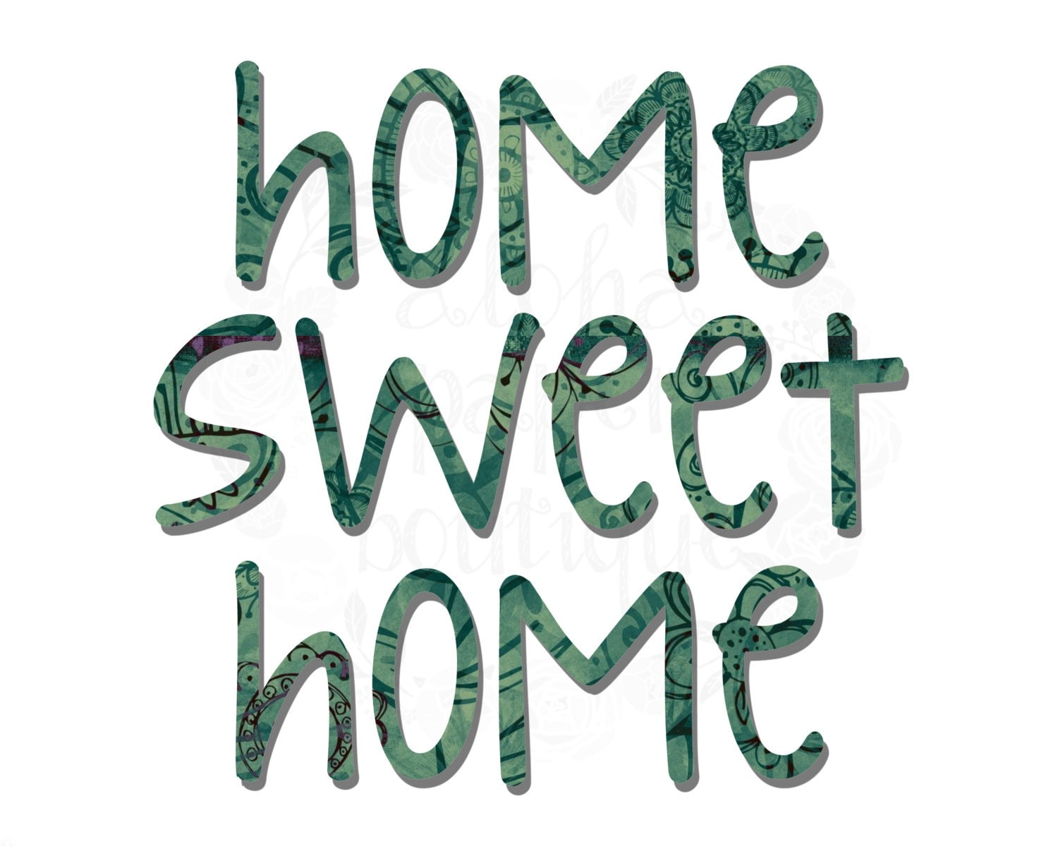 This is a photo of Delicate Home Sweet Home Printable