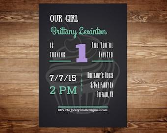 1st Birthday Invitations - First Birthday Invitation Card - First Birthday Invitation Template