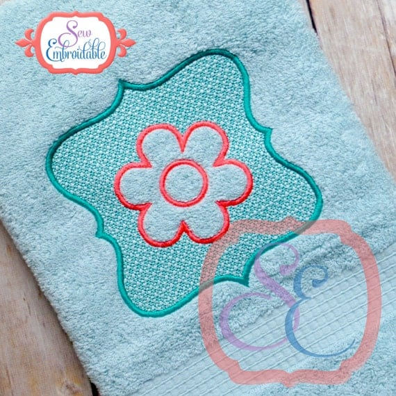 Machine Embroidery Design For Embossed Towel