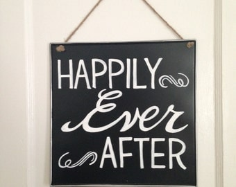 Happily Ever After Chalkboard