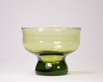 Cup, bowl of green glass, vase, small