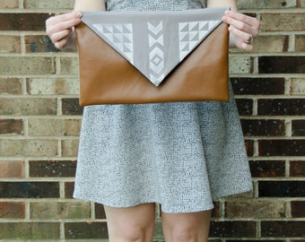 """Hipster Leather Clutch 