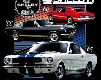 1965 1966 1969 Carroll Shelby Cobra GT500 Licensed Mustang Mens T Shirt Free Shipping to USA 17929Di