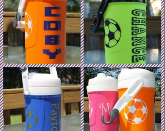 Monogrammed New Igloo 1/2 gallon sports jug cooler