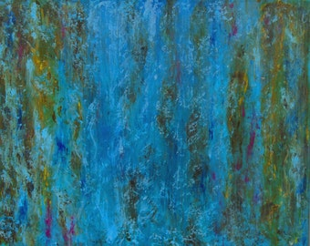 Flow Original Abstract Painting 22 X 28 Acrylic Colorful Liquid